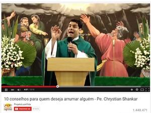 Conselhos de padre em vídeo teve mais de 1 milhão de acessos (Foto: Reprodução/YouTube)