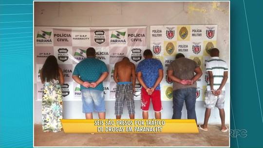 Policiais civis e militares fazem operações contra o tráfico no Paraná