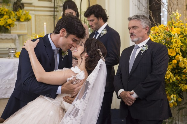 Casal Shirlipe se casa em Haja Coração (Foto:  Globo/Estevam Avellar)