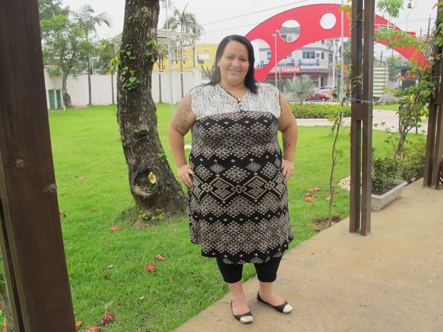 Atriz de 170 quilos encontra nos palcos a força para emagrecer (Foto: Mariane Rossi/G1)