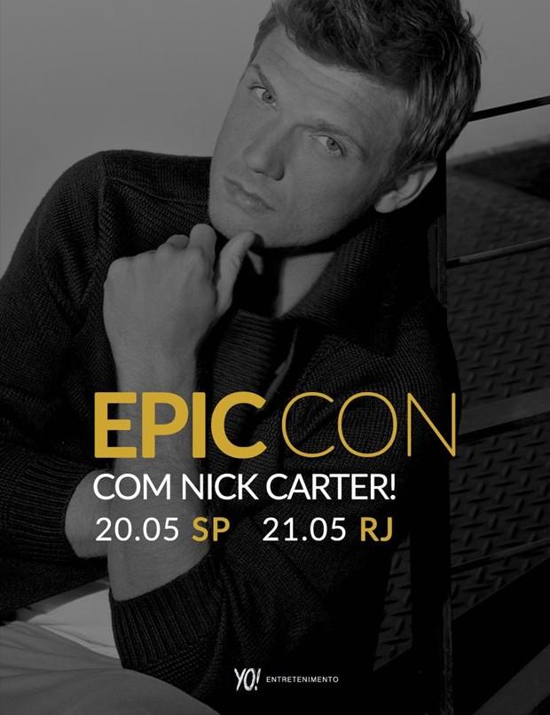 Nick Carter virá ao Brasil em maio para Epic Con (Foto: Divulgação)