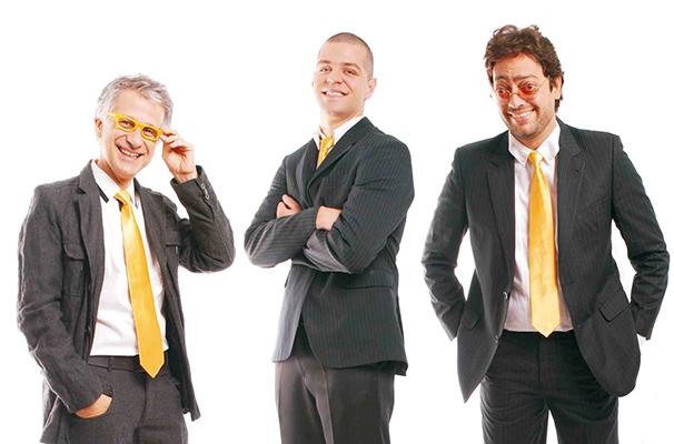 Cláudio Torres Gonzaga, Victor Sarro e Fernando Caruso lideram o elenco (Foto: Divulgação)