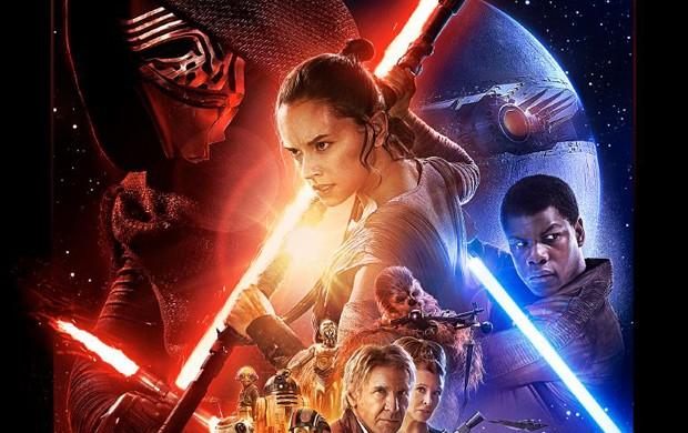 Observe aquela esfera do lado direito do pôster oficial do novo 'Star Wars': seria uma nova versão da Estrela da Morte? (Foto: Reprodução/YouTube/Star Wars)