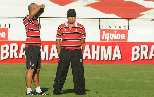 Sandro e Zé Teodoro - Santa Cruz (Foto: Aldo Carneiro / Pernambuco Press)