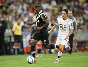 Riascos e Higor Leite, Fluminense x Vasco (Foto: Marcelo de Jesus / GloboEsporte.com)
