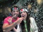Ex-BBBs Eliéser e Kamilla se divertem durante jantar