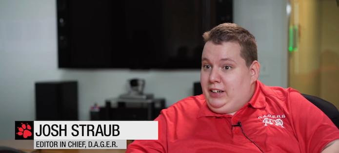 Josh Straub, fundador do site D.A.G.E.R, que avalia o quão acessível são os jogos (Foto: Reprodução/YouTube)