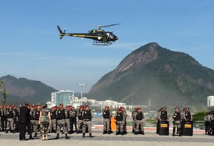 Força Nacional de segurança (Foto: Henrique Coelho/G1)