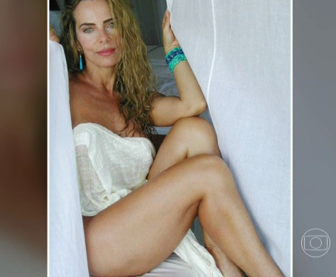 Bruna Lombardi posa sensual para as lentes de seu marido (Foto: Arquivo Pessoal)