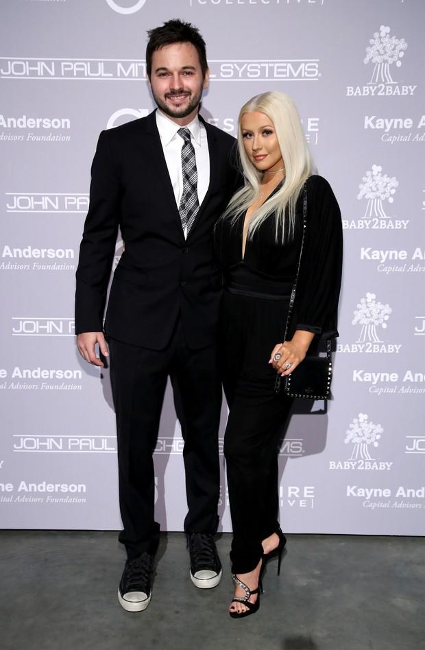 Matthew Rutler e Christina Aguilera (Foto: Getty Image)