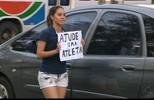 Ginastas paraibanas fazem pedágio em busca de dinheiro para competição em SC