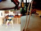 Deborah Secco malha pesado e posta vídeo na internet