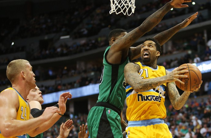 Wilson Chandler Nuggets x Celtics NBA (Foto: Reuters)