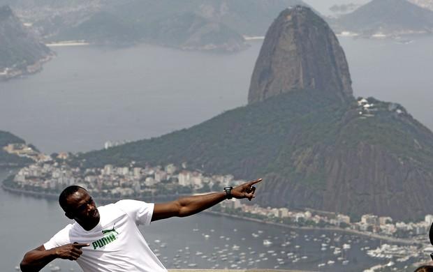 Bolt no Cristo Redentor Rio de Janeiro (Foto: EFE)