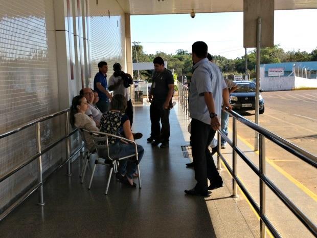 Servidores da Infraero em Porto Velho aderem a paralisação nacional (Foto: Vanessa Vasconcelos/G1)