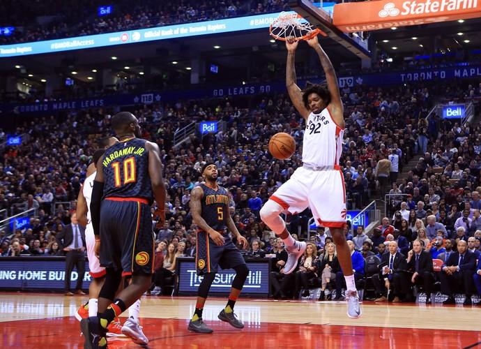 Lucas Bebê Atlanta Hawks x Toronto Raptors (Foto: Getty Images)