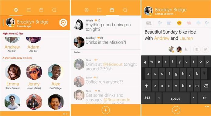 Swarm trouxe de volta o sistema de prefeituras e também novos adesivos (Foto: Divulgação/Windows Phone Store)