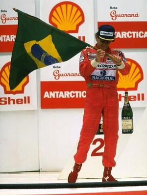Ayrton Senna - GP do Brasil de 1991 (Foto: Getty Images)