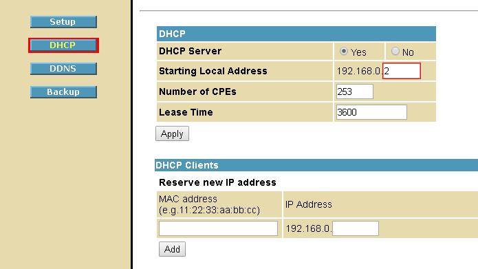Servidor DHCP é responsável por fornecer IPs a dispositivos conectados (Foto: Reprodução/Motorola)