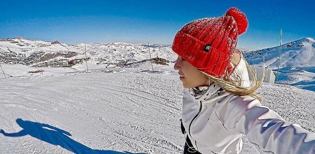 Letcia Bufoni no Valle Nevado (Foto: Letcia Bufoni Instagram)