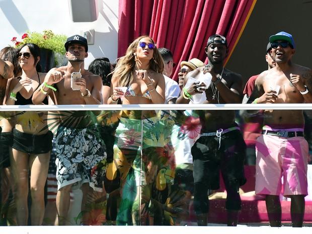 Jennifer Lopez em festa em hotel em Las Vegas, nos Estados Unidos (Foto: Ethan Miller/ Getty Images/ AFP)