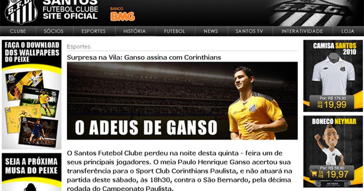 G1 - Falha em site oficial do Santos permite publicação de notícia falsa -  notícias em Tecnologia e Games 707ea9fb4a89f