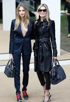 Cara Delevingne e Kate Moss roubam a cena em primeira fila de desfile
