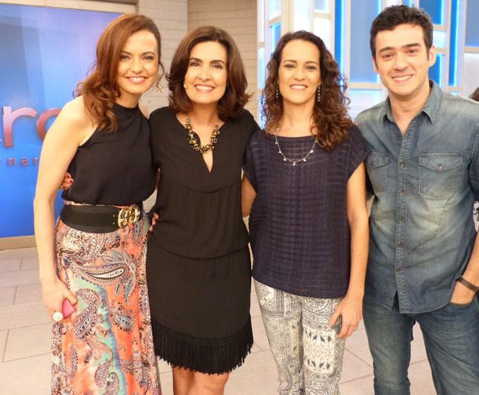 Lígia Guerra, Fátima, Rita Ericson e Marcos Veras (Foto: Viviane Figueiredo Neto/ Gshow)