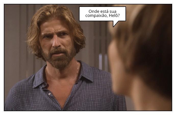 Pedro discute com Helô (Foto: TV Globo)