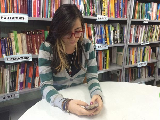 A estudante da rede pública do DF, Sabrina Caixeta (Foto: Sabrina Caixeta/Arquivo Pessoal)