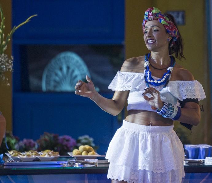 Marinalva sorri na Festa Bahia (Foto: Artur Meninea/Gshow)