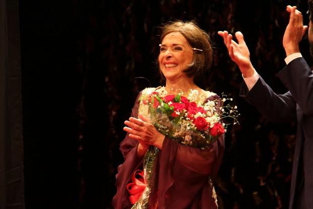 Betty Faria comemora 74 anos de idade com estreia de teatro no Rio (Foto: Anderson Borde/Ag News)
