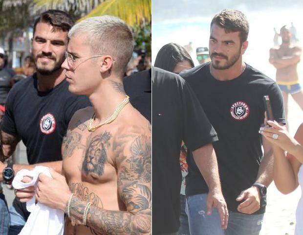 Segurança de Justin Bieber (Foto: Agnews/ Brasil News)