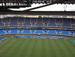 Monitoramento gramado estádio Engenhão (Foto: Thiago Lopes)