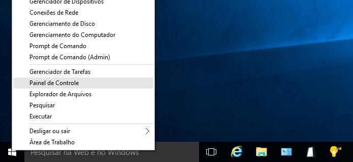Abra o painel de controle clássico do Windows (Foto: Reprodução/Helito Bijora)
