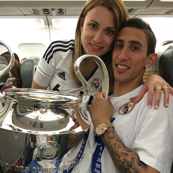 Di María e a esposa Jorgelina (Foto: Instagram)