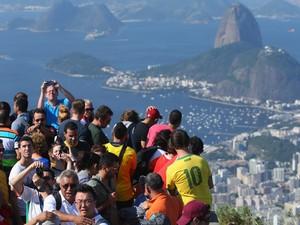 Turistas no Rio de Janeiro: Copa fez os gastos aumentarem (Foto: Getty Images)
