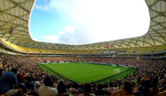 Arena da Amazônia inauguração (Foto: Marina Souza)