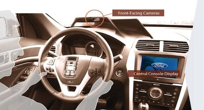 Project Mobii prevê instalação de uma série de câmeras e sensores dentro dos carros (Foto: Divulgação/Ford) (Foto: Project Mobii prevê instalação de uma série de câmeras e sensores dentro dos carros (Foto: Divulgação/Ford))