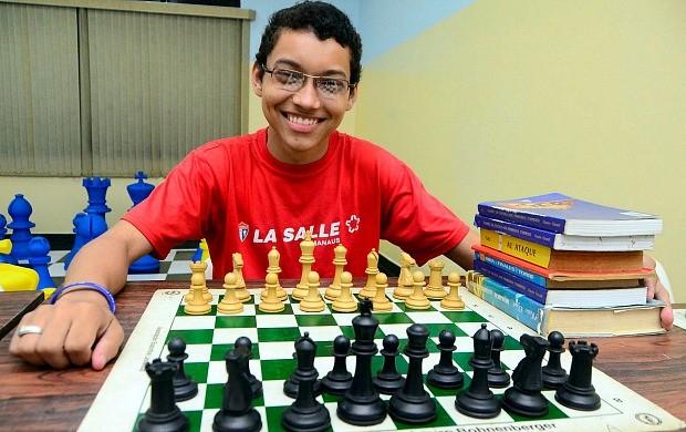 Xadrez amazonas Victor Gabriel (Foto: Mauro Neto/Semjel)