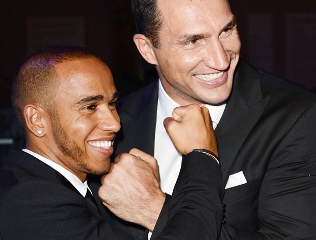 Lewis Hamilton e Wladimir Klitschko baile beneficente Londres (Foto: Getty Images)
