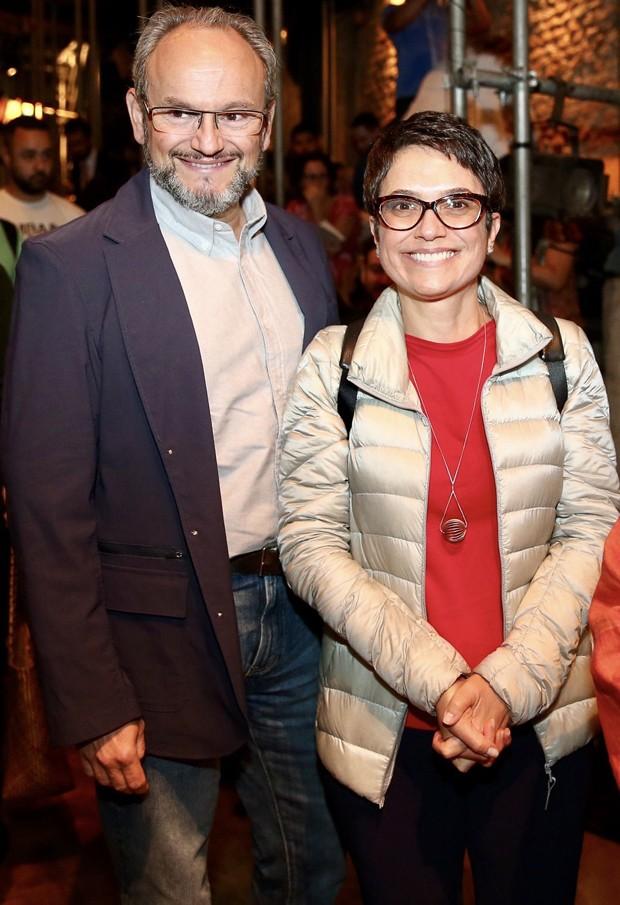 O casal Sandra Annenberg e Ernesto Paglia (Foto: Manuela Scarpa/Brazil News)