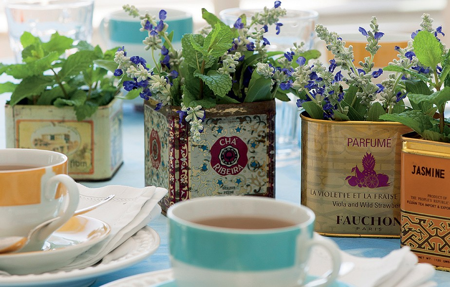 Centros de mesa fora do comum casa e jardim galeria de for Como hacer adornos con plantas naturales