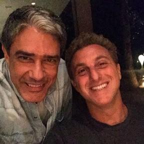 William Bonner e Luciano Huck (Foto: Instagram/ Reprodução)