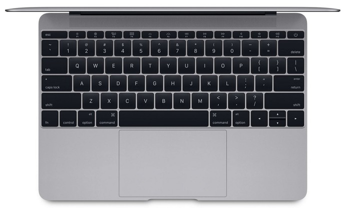 MacBook traz nova fonte no teclado, a mesma utilizada no relógio Apple Watch (Foto: Divulgação/Apple)