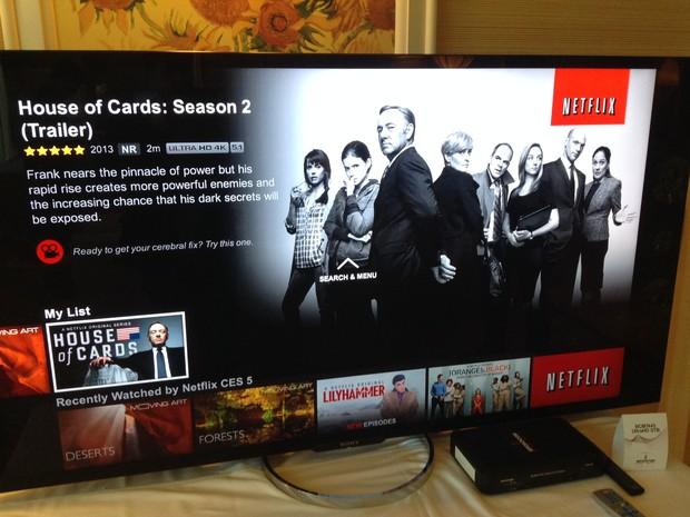 Segunda temporada de 'House of Cards' estreia conteúdo em 4K no Netflix em fevereiro (Foto: Gustavo Petró/G1)