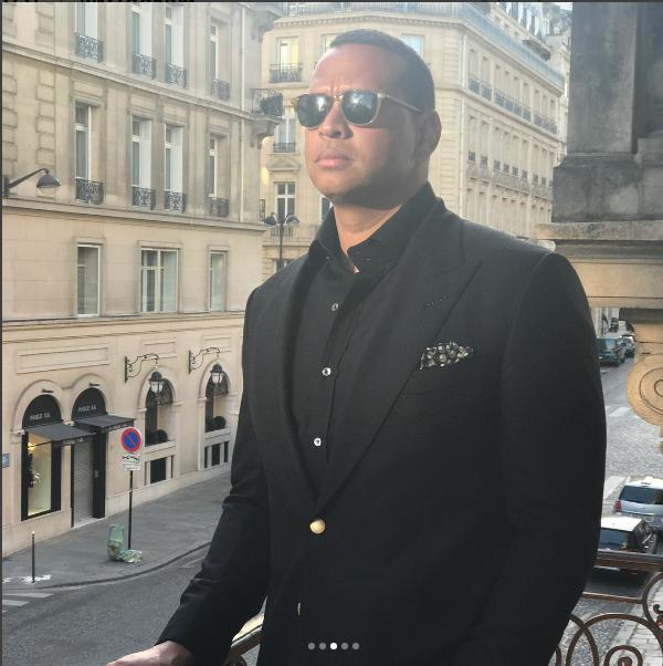 Alex Rodriguez, namorado de Jennifer Lopez, em Paris (Foto: Reprodução/ Instagram)
