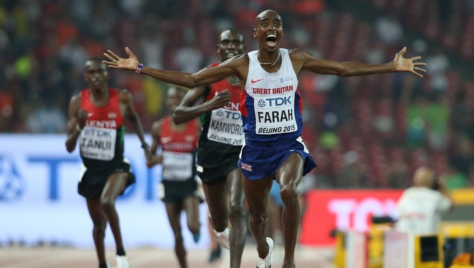 Mo Farah 10.000m Mundial de atletismo de Pequim (Foto: Andy Lyons / Getty Images)