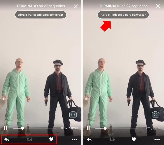 Responda, retuíte e curta o vídeo ou abra o Periscope para interagir (Foto: Reprodução/Paulo Alves)