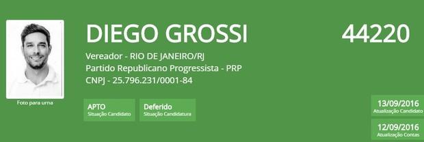 Diego grossi (Foto: Reprodução/TSE)